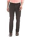 USPA Tailored Slim Fit Flat Front Trousers