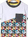 Colt Boys Mickey Mouse Print Panel T-Shirt