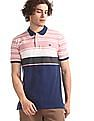 Roots by Ruggers Multi Colour Striped Pique Polo Shirt