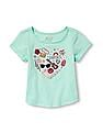 The Children's Place Toddler Girl Short Sleeve Embellished Graphic Top