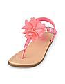 The Children's Place Girls Pink Flower Zahara Sandal