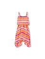 The Children's Place Girls Sleeveless Printed Shark-Bite Hem Tank Dress