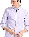 Excalibur Purple Slim Fit Check Shirt
