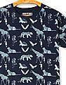 FM Boys Boys Crew Neck Animal Print T-Shirt