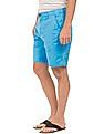 Aeropostale Solid Regular Fit Twill Shorts