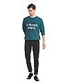 U.S. Polo Assn. Green Brand Print Crew Neck Sweatshirt