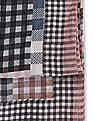 SUGR Pink Check Cotton Stole