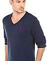 U.S. Polo Assn. Patterned Cotton Sweater