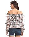 Aeropostale Printed Off Shoulder Top